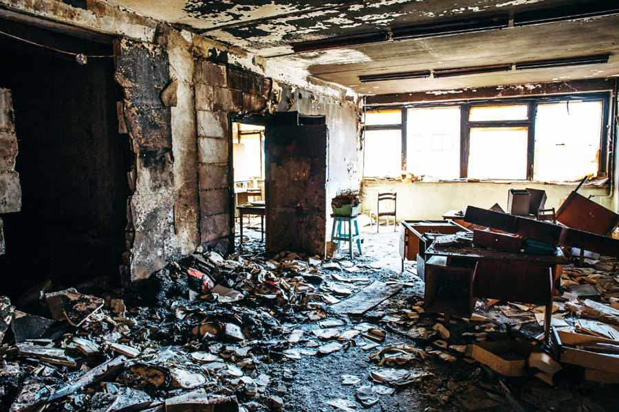 Contact Us Image - damaged house